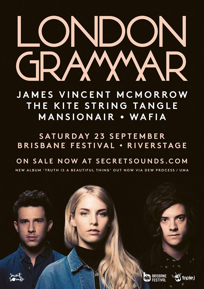 London Grammar supports announced